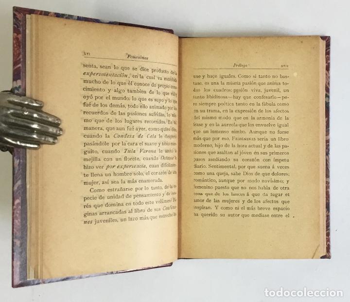 Libros antiguos: FEMENINAS. (Seis historias amorosas).- VALLE-INCLÁN, Ramón del. PRIMERA EDICIÓN. - Foto 4 - 143708070