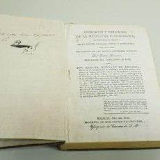 Livres anciens: J10- VINDICACION Y ESPLICACION DE LA MEDICINA FISIOLOGICA AÑO 1826 299 PAGINAS DIFICIL DE CONSEGUIR. Lote 143714586