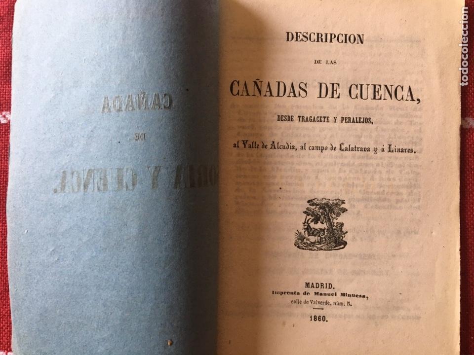 Libros antiguos: Cañada real de Soria y Cuenca 1860 - Foto 2 - 143792881