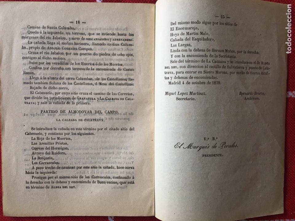 Libros antiguos: Cañada real de Soria y Cuenca 1860 - Foto 4 - 143792881