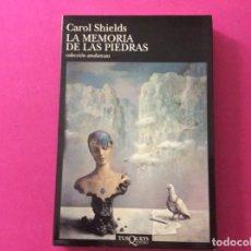 Libros antiguos: LA MEMÒRIA DE LAS PIEDRAS - CAROL SHIELDS. Lote 143907542