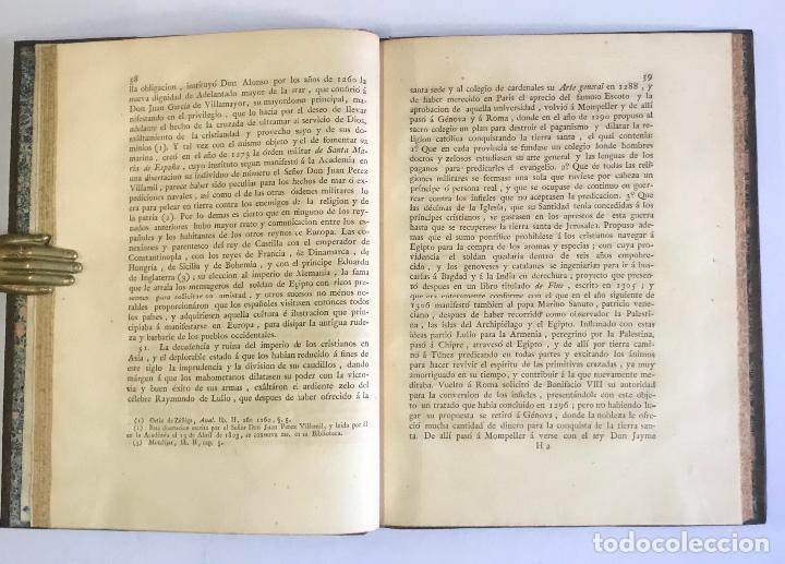 Libros antiguos: DISERTACION HISTÓRICA SOBRE LA PARTE QUE TUVIÉRON LOS ESPAÑOLES EN LAS GUERRAS DE ULTRAMAR Ó DE LAS - Foto 3 - 142425621