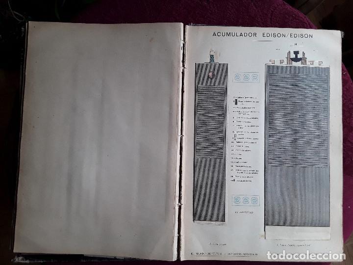 Libros antiguos: EL MUNDO CIENTIFICO INVENTOS MODERNOS, 9 TOMOS - Foto 5 - 143999514