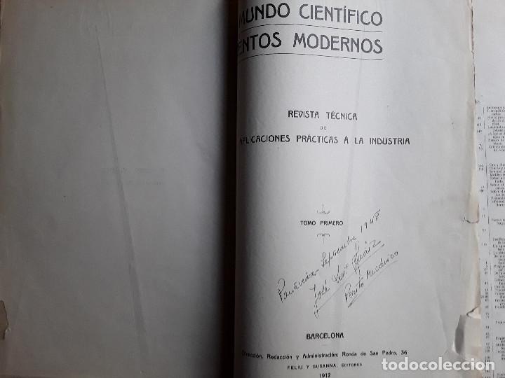 Libros antiguos: EL MUNDO CIENTIFICO INVENTOS MODERNOS, 9 TOMOS - Foto 10 - 143999514