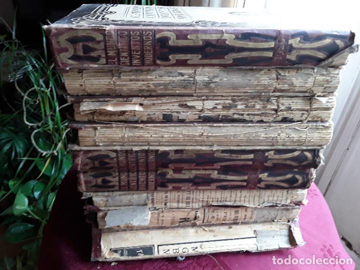 Libros antiguos: EL MUNDO CIENTIFICO INVENTOS MODERNOS, 9 TOMOS - Foto 13 - 143999514