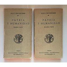 Libros antiguos: PATRIA Y HUMANIDAD (ENSAYO DE SOLUCIÓN COLECTIVA). 2 TOMOS. Lote 144067036