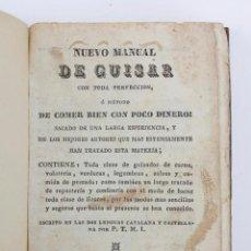 Libros antiguos: NUEVO MANUAL DE GUISAR, CATALÁN - CASTELLANO, IMP. MANUEL TEXÉRO, SIN FECHAR, BARCELONA. 11X15CM. Lote 144082742