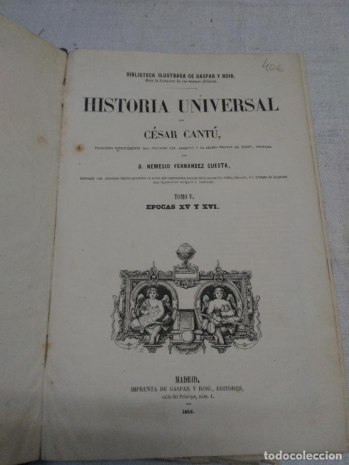 Libros antiguos: HISTORIA UNIVERSAL - Foto 2 - 144104342