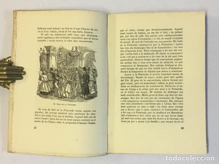 Libros antiguos: EL CARNESTOLTES A BARCELONA EL SEGLE XIXè. - AMADES, Joan. 130 EXEMPLARS EN PAPER DE FIL. - Foto 3 - 144248646