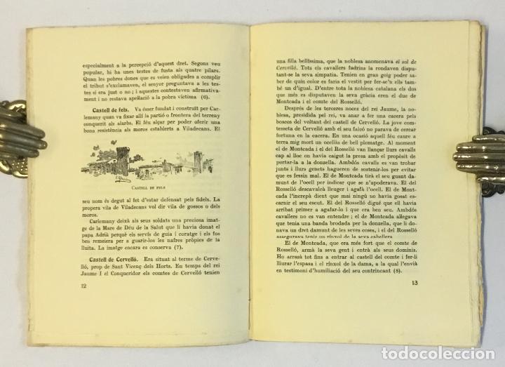 Libros antiguos: CASTELLS LLEGENDARIS DE LA CATALUNYA NOVA. - AMADES, Joan. 130 EXEMPLARS EN PAPER DE FIL. - Foto 3 - 144249458