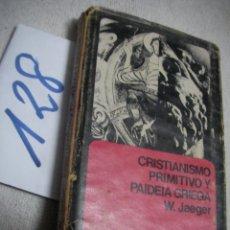 Libros antiguos: CRISTIANISMO PRIMITIVO Y PAIDEIA GRIEGA. Lote 144498886