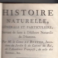 Libros antiguos - COMTE DE BUFFON: HISTOIRE NATURELLE. TOMO X. HISTORIA NATURAL. PARIS, 1778. DEMOGRAFÍA - 144539038