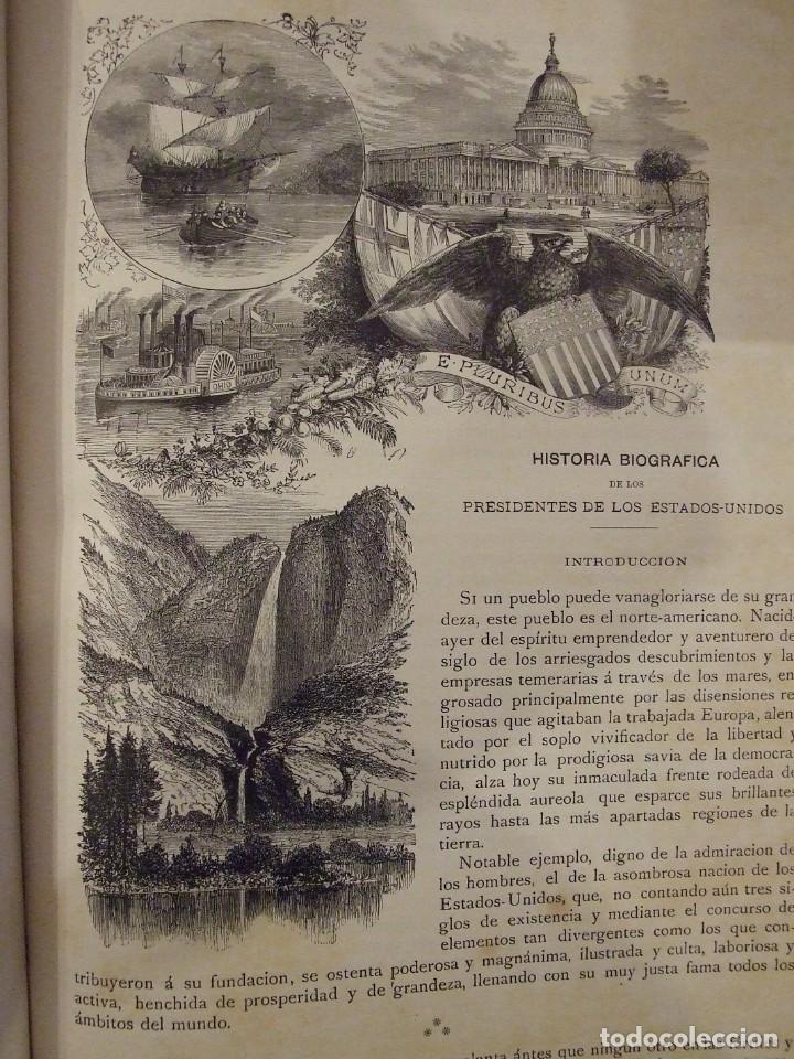 Libros antiguos: LOS PRESIDENTES DE LOS ESTADOS UNIDOS - VERNEUILL - MONTANER Y SIMON 1885 BARCELONA ILUSTRADA - Foto 8 - 144558522