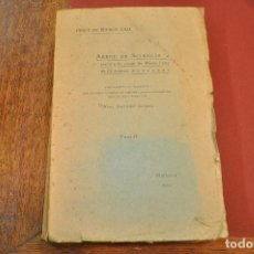 Libros antiguos: ARBRE DE SCIENCIA -TOM II - OBRES DE RAMON LLULL MOSS. SALVADOR GALMÉS 1923 ANOM. Lote 144564170