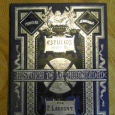 Libros antiguos: ESTUDIOS SOBRE LA HISTORIA DE LA HUMANIDAD. F. LAURENT. TOMO XV. EL IMPERIO. ANLLO. 1881. Lote 144643606