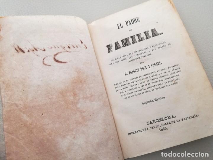 Libros antiguos: EL PADRE DE FAMILIA (1846) - JOAQUIN ROCA Y CORNET - Foto 5 - 144728534