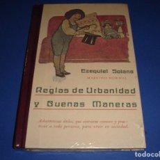 Libros antiguos: REGLAS DE URBANIDAD Y BUENAS MANERAS / EZEQUIEL SOLANA / EDICIÓN FACSIMIL / ¡¡¡PRECINTADO!!!. Lote 144791562