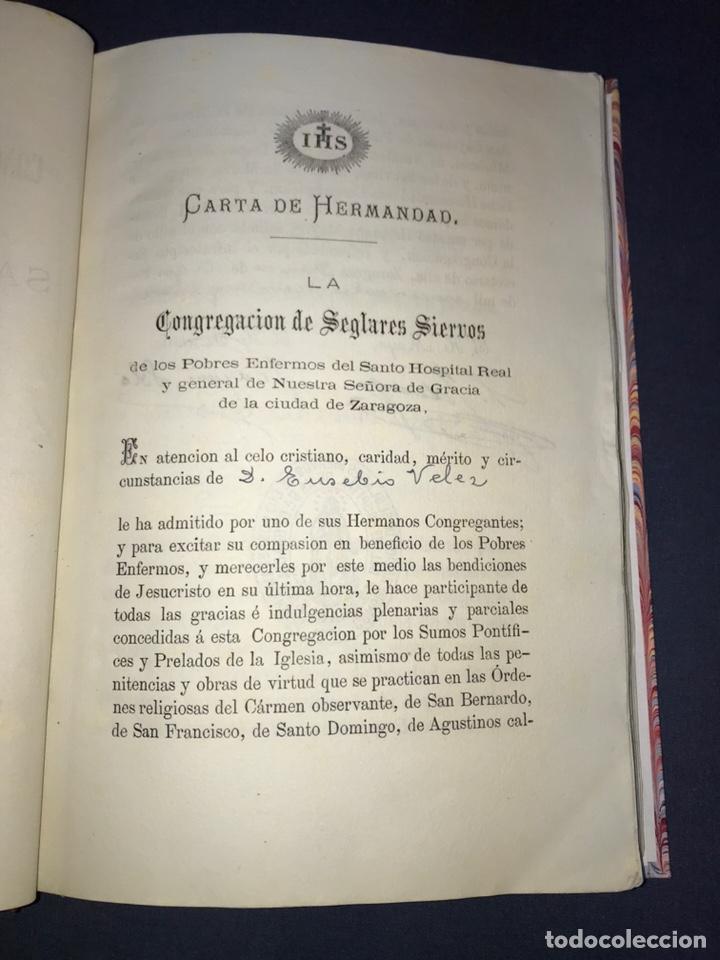 Libros antiguos: ZARAGOZA. HERMANDAD DE LA SOPA. 1881. CONSTITUCIONES CONGREGACION SANTO HOSPITAL N. S. DE GRACIA. - Foto 4 - 144873938