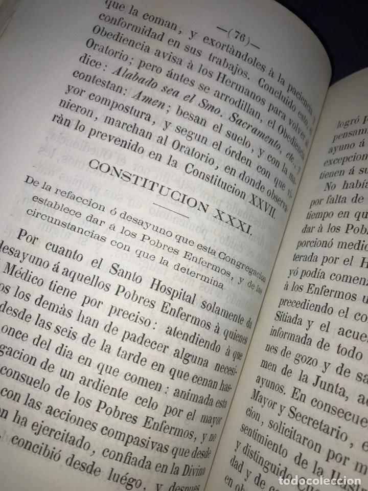 Libros antiguos: ZARAGOZA. HERMANDAD DE LA SOPA. 1881. CONSTITUCIONES CONGREGACION SANTO HOSPITAL N. S. DE GRACIA. - Foto 7 - 144873938