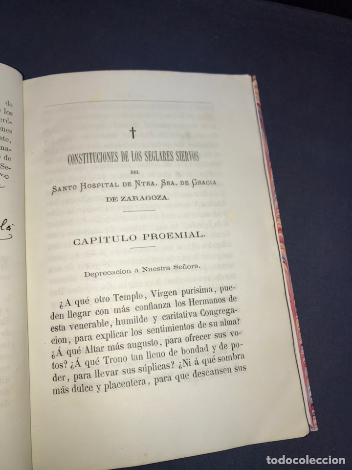 Libros antiguos: ZARAGOZA. HERMANDAD DE LA SOPA. 1881. CONSTITUCIONES CONGREGACION SANTO HOSPITAL N. S. DE GRACIA. - Foto 6 - 144873938