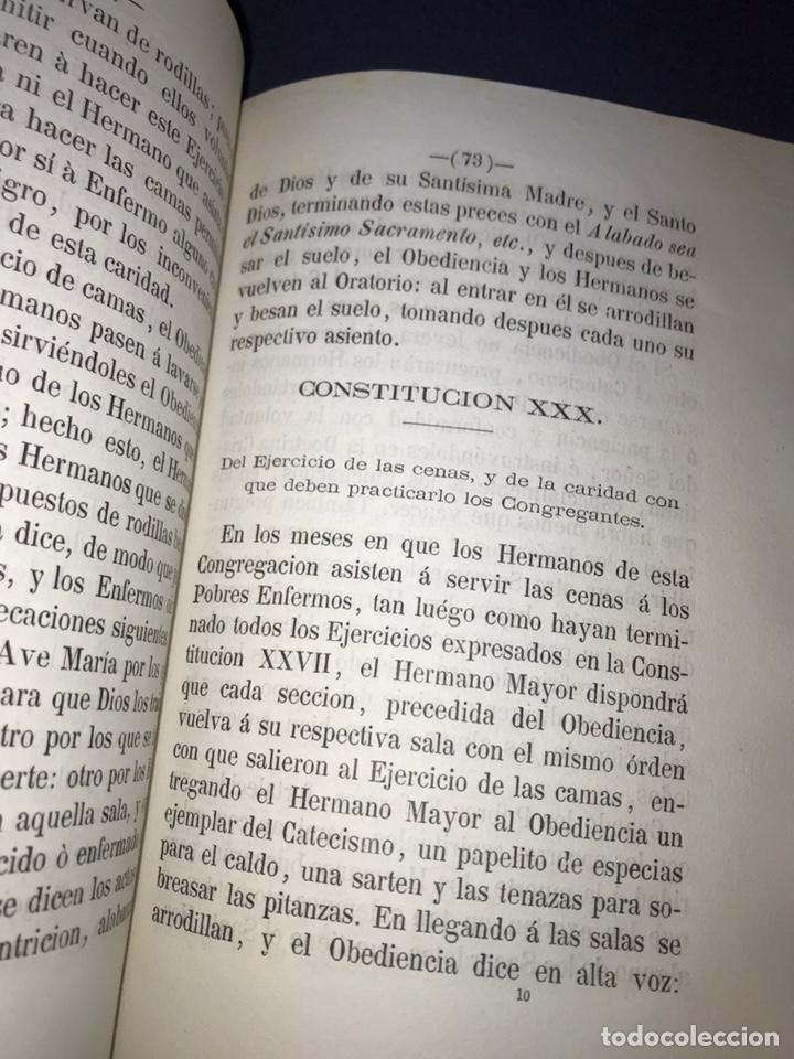 Libros antiguos: ZARAGOZA. HERMANDAD DE LA SOPA. 1881. CONSTITUCIONES CONGREGACION SANTO HOSPITAL N. S. DE GRACIA. - Foto 8 - 144873938