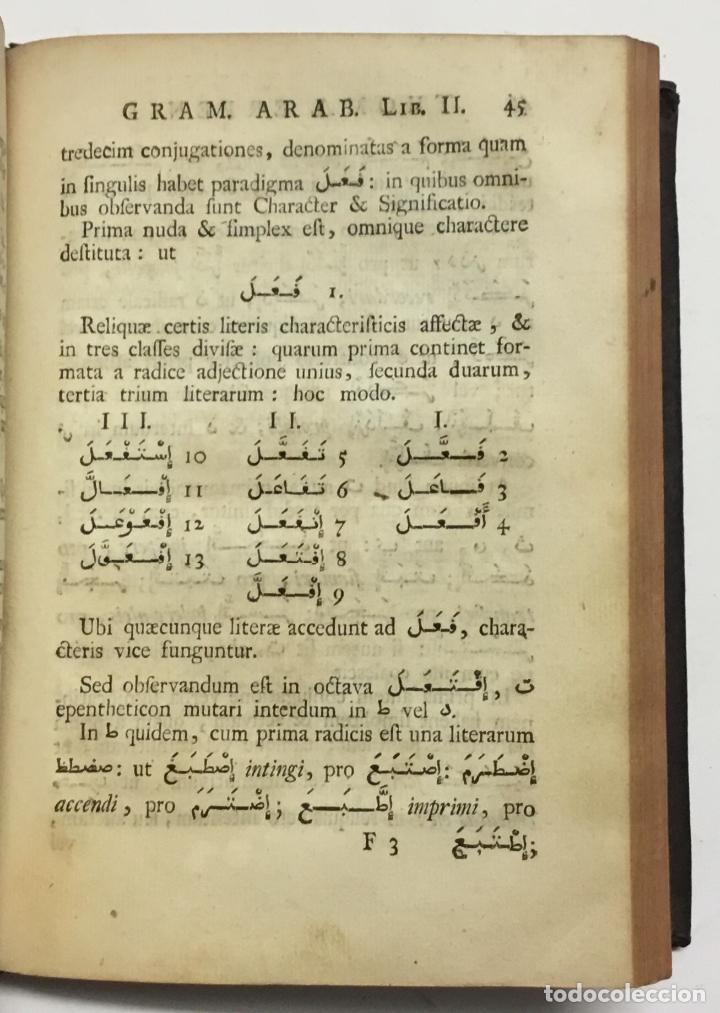 Libros antiguos: GRAMMATICA ARABICA cum fabulis Locmanni, etc.; accedunt excerpta anthologiae veterum Arabiae poetaru - Foto 6 - 142425469
