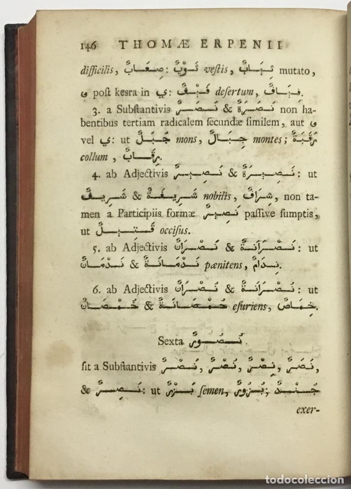 Libros antiguos: GRAMMATICA ARABICA cum fabulis Locmanni, etc.; accedunt excerpta anthologiae veterum Arabiae poetaru - Foto 7 - 142425469