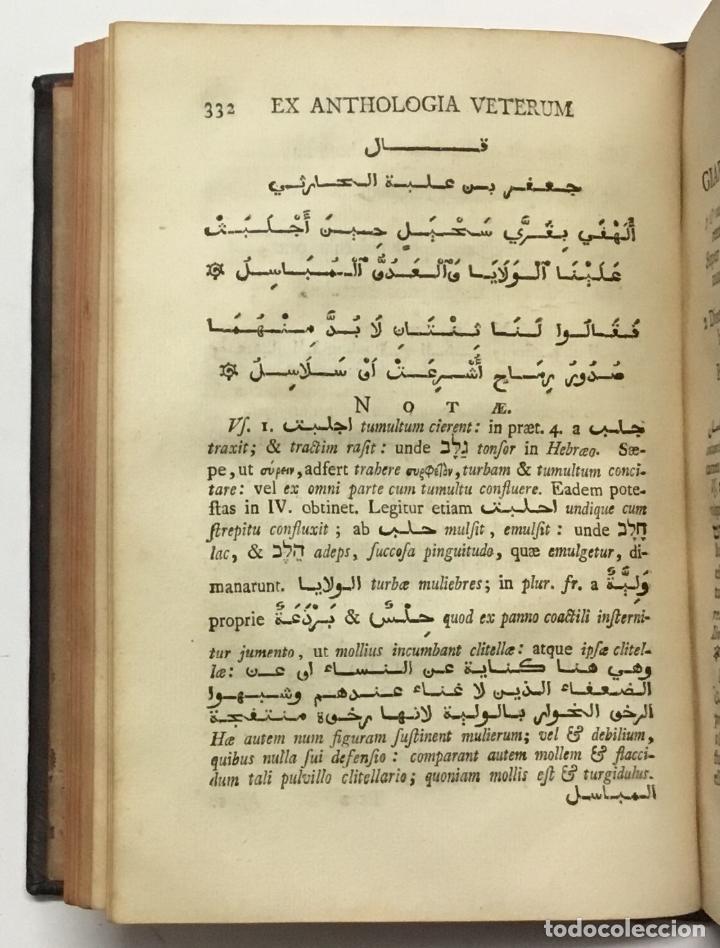 Libros antiguos: GRAMMATICA ARABICA cum fabulis Locmanni, etc.; accedunt excerpta anthologiae veterum Arabiae poetaru - Foto 10 - 142425469