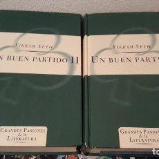 Libros antiguos: VIKRAM SETH - UN BUEN PARTIDO ( 2 VOLÚMENES) - ORBI TAPA DURA 1997. Lote 145058762