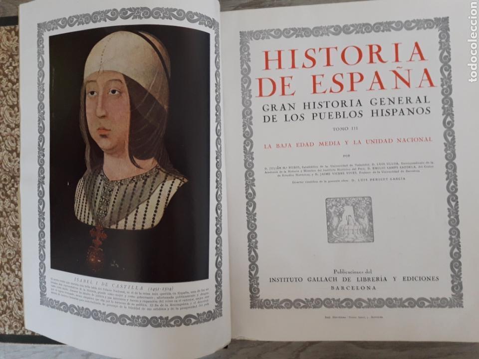 Libros antiguos: Historia de España. Inst .Gallach 1934 - Foto 4 - 145064424