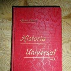 Libros antiguos: HISTORIA UNIVERSAL. TOMO X. CESAR CANTU. GASSO HERMANOS EDITORES. BARCELONA. Lote 145187634