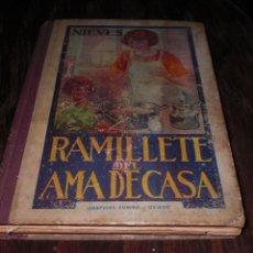 Livros antigos: RAMILLETE DEL AMA CASA NIEVES GRÁFICAS SUMMA OVIEDO 1954 LIBRO DE COCINA VEINTISEISAVA EDICION. Lote 145202782