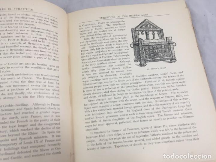 Libros antiguos: Historic Styles in Furnitures Estilos Históricos en Muebles Virginia Robie 1905 en inglés Ilustrado - Foto 5 - 145224642