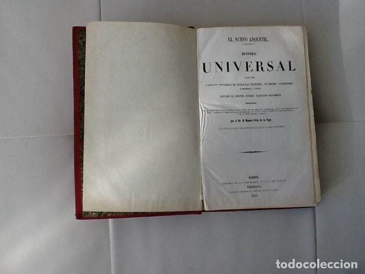 Libros antiguos: NUEVO ANQUETIL HISTORIA UNIVERSAL HASTA 1848 - Foto 3 - 145237902