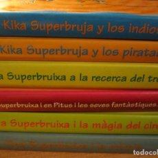 Libros antiguos: LOTE 6 LIBROS 4 KIKA SUPERBRUJA EN CASTELLANO 2 TINA SUPERBRUIXA EN CATALAN. Lote 145428846