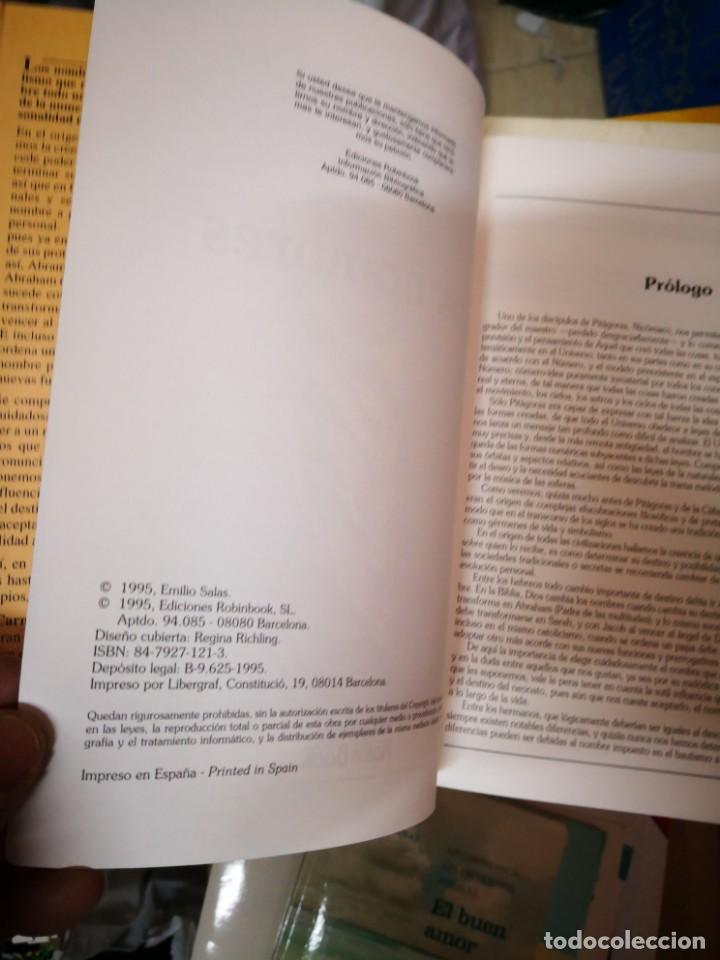 Libros antiguos: Los nombres. Su significado y su influencia secreta sobre el carácter y el destino - Emilio Salas - Foto 3 - 145482602