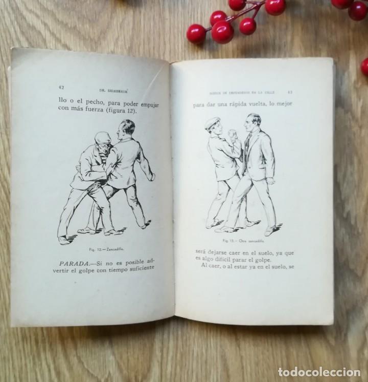 Libros antiguos: Modos de defenderse en la calle sin armas por el Dr. Saimbraum. - Foto 2 - 145525958