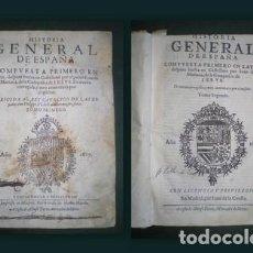 Libros antiguos: MARIANA, JUAN DE: HISTORIA GENERAL DE ESPAÑA. 2 VOLS. 1916-1917. PERGAMINO. Lote 145572302