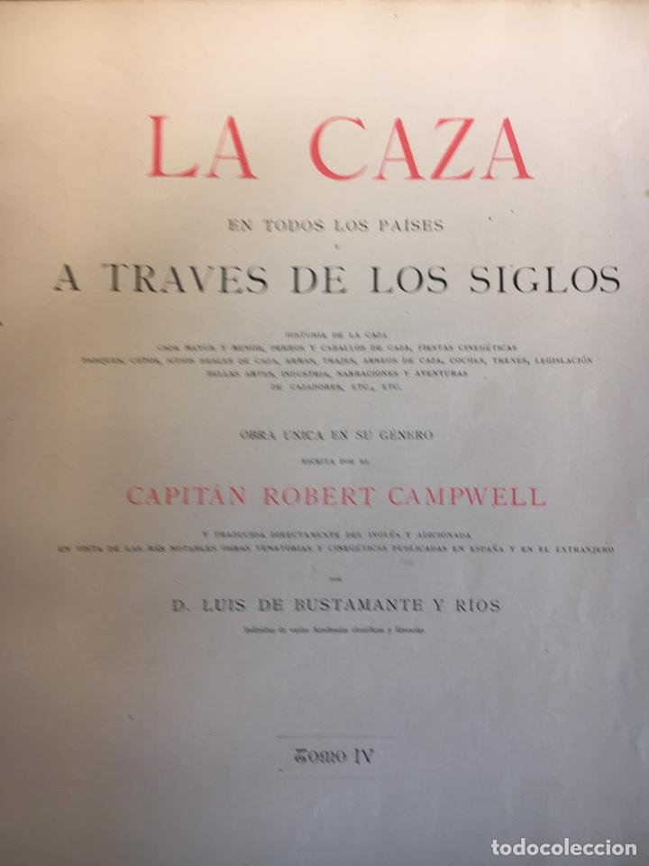 Libros antiguos: LA CAZA EN TODOS LOS PAÍSES Y A TRAVÉS DE LOS SIGLOS. año 1886 - Foto 3 - 145603374