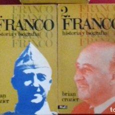 Libros antiguos: FRANCO HISTORIA Y BIOGRAFÍA BRIAN CROZIER 2 TOMOS EN ESTUCHE EDITORIAL MAGISTERIO. Lote 145612362