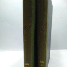 Libros antiguos: LIBRO - LOTE DE 12 REVISTAS: LECTURAS - AÑO COMPLETO AÑO 1945 I & II / N-8190. Lote 145618426