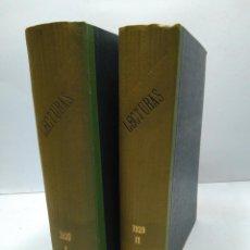 Libros antiguos: LIBRO - LOTE DE 12 REVISTAS: LECTURAS - AÑO COMPLETO AÑO 1929 I & II / N-8200. Lote 145622738