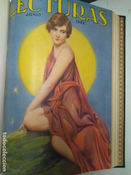 Libros antiguos: LIBRO - LOTE DE 12 REVISTAS: LECTURAS - AÑO COMPLETO AÑO 1929 I & II / N-8200 - Foto 3 - 145622738
