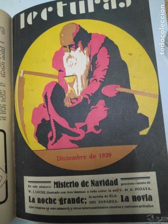 Libros antiguos: LIBRO - LOTE DE 12 REVISTAS: LECTURAS - AÑO COMPLETO AÑO 1929 I & II / N-8200 - Foto 5 - 145622738