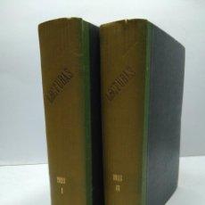 Libros antiguos: LIBRO - LOTE DE 12 REVISTAS: LECTURAS - AÑO COMPLETO AÑO 1928 I & II / N-8201. Lote 145623074