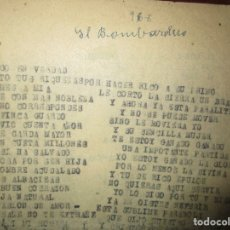Libros antiguos: EL BOMBARDERO AVIACION 1940 OBRA CRONICA INEDITA SOBRE GUERRA CIVIL ESPAÑA EN VALDECABRAS CUENCA. Lote 74972871