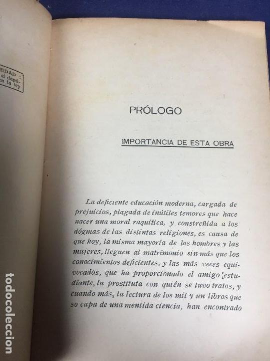 Libros antiguos: COMO HAN DE PORTARSE HOMBRE Y MUJER EN NOCHE DE BODA BENTANCOUR CONSEJOS PRACTICOS - Foto 4 - 145695762