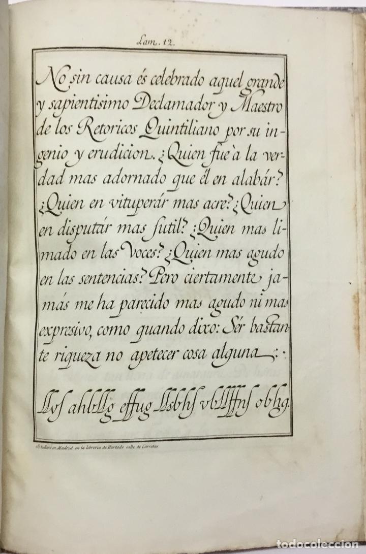 Libros antiguos: XIMENEZ, Esteban. ARTE DE ESCRIBIR COMPUESTO POR D. ... siguiendo el metodo y buen gusto de D. Franc - Foto 5 - 145699794