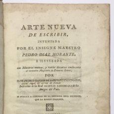 Libros antiguos: PALOMARES. ARTE NUEVA DE ESCRIBIR.... SANCHA. MADRID, 1776. 40 GRABADOS ASSENSIO Y MEJORADA. Lote 145707150