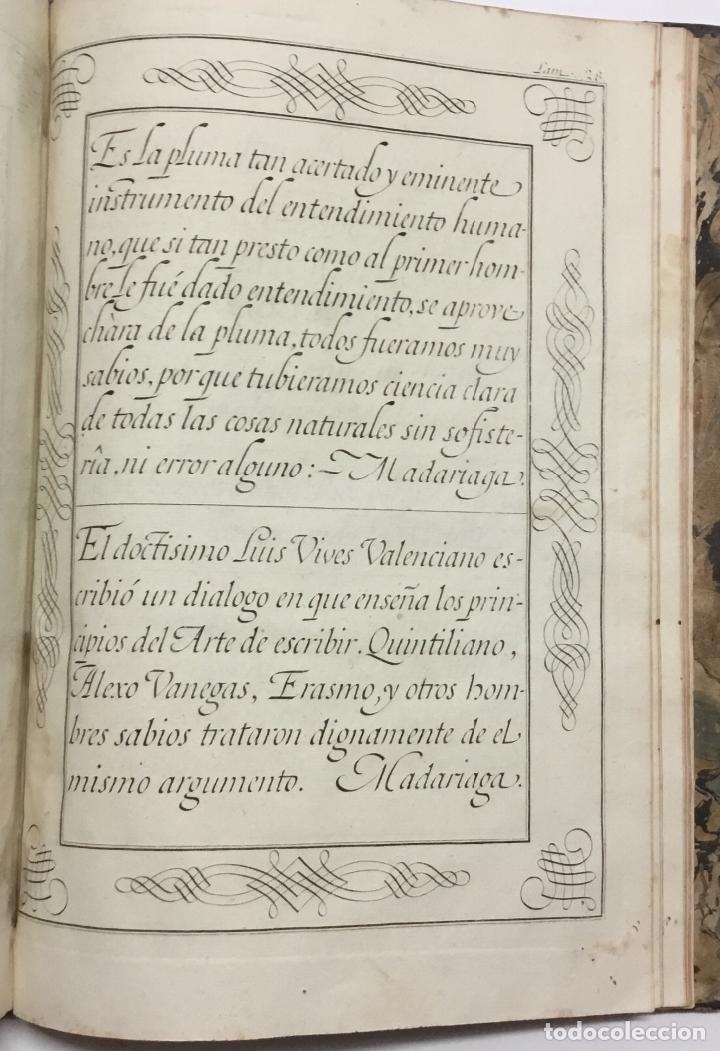 Libros antiguos: PALOMARES. ARTE NUEVA DE ESCRIBIR.... SANCHA. MADRID, 1776. 40 GRABADOS ASSENSIO Y MEJORADA - Foto 8 - 145707150